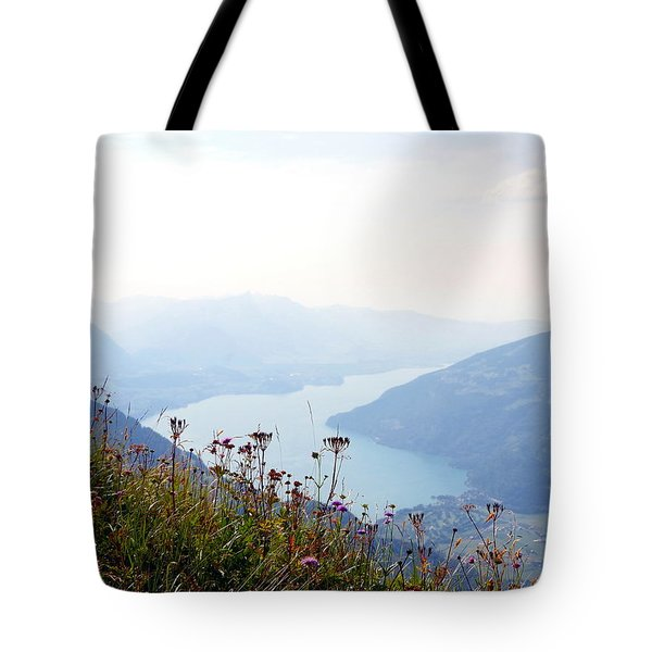 Alpine Flora On Top Of Schynige Platte Tote Bag by Ernst Dittmar