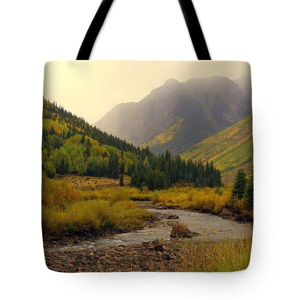 Alpine Loop Fall Tote Bag by Marty Koch