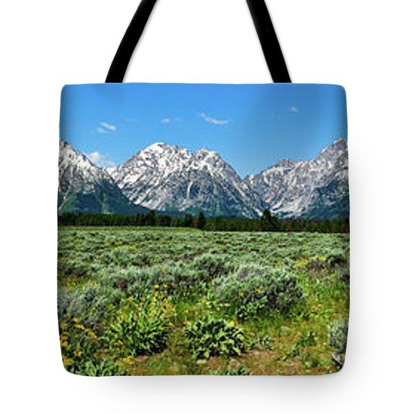 Alpine Meadow Teton Panorama II Tote Bag