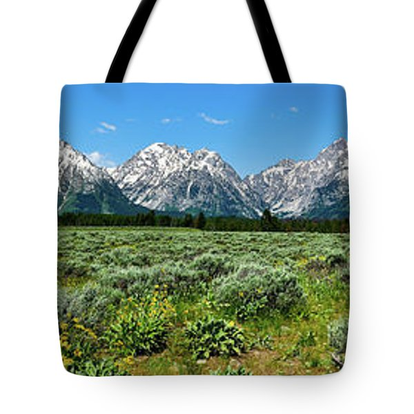 Alpine Meadow Teton Panorama II Tote Bag