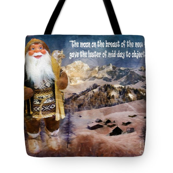 Alpine Santa Card 2015 Tote Bag