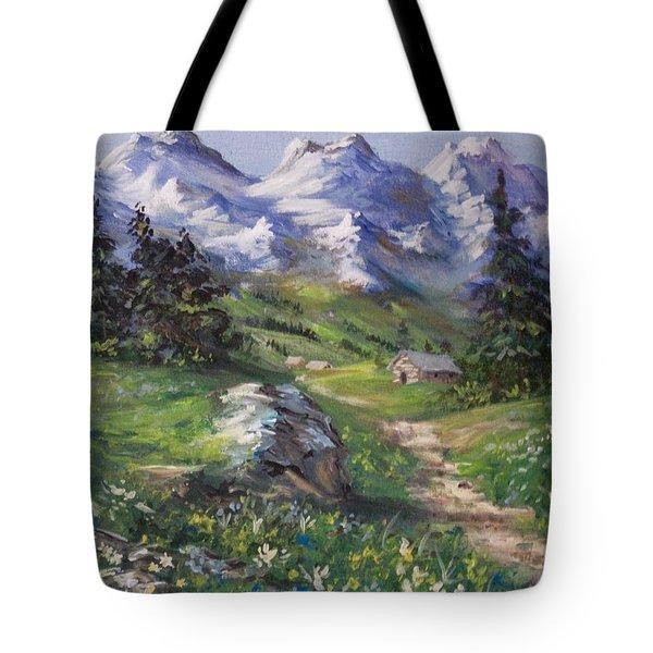 Alpine Splendor Tote Bag