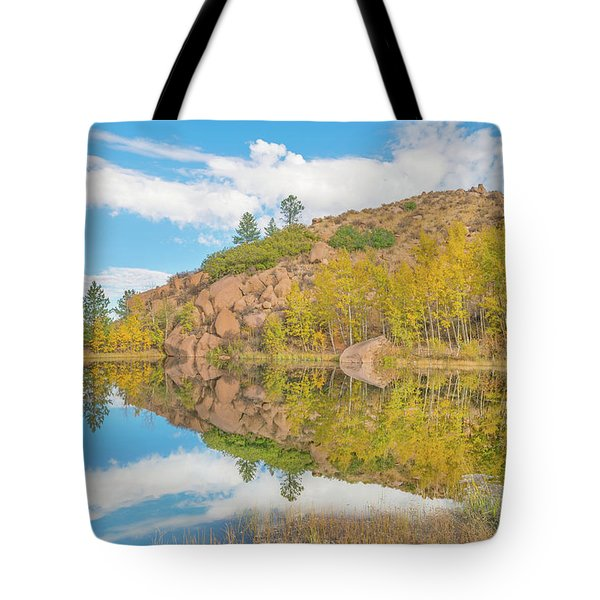 Alpine Vale Reflection  Tote Bag