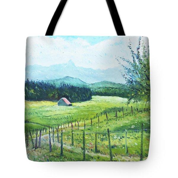 Alps From Geneva Switzerland 2016 Tote Bag by Enver Larney