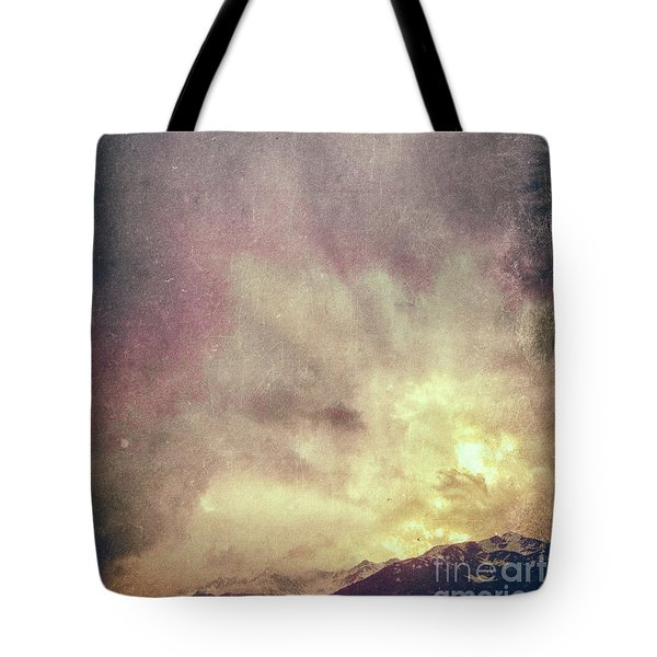 Tote Bag featuring the photograph Alps With Dramatic Sky by Silvia Ganora