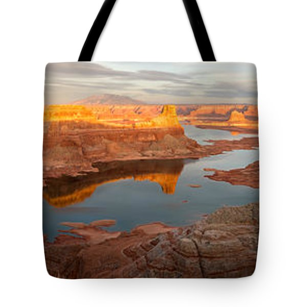 Tote Bag featuring the photograph Alstrom Point Panorama by Dustin LeFevre