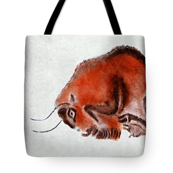 Altamira Prehistoric Bison At Rest Tote Bag