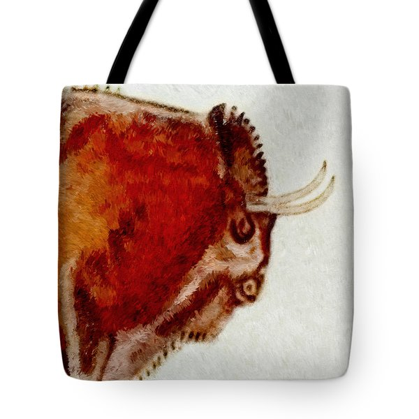 Altamira Prehistoric Bison Detail Tote Bag