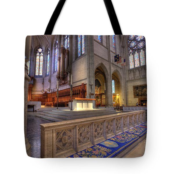 Altar At Grace Cathedral Tote Bag by David Bearden