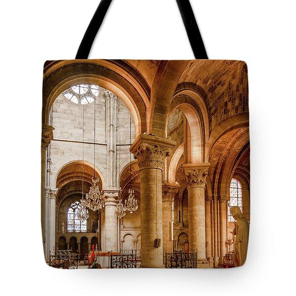 Poissy, France - Altar, Notre-dame De Poissy Tote Bag