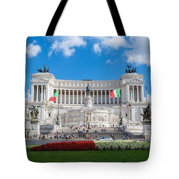 Altare Della Patria-3344 Tote Bag