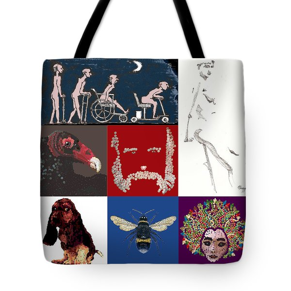 Alter Ego Montage Tote Bag by R  Allen Swezey