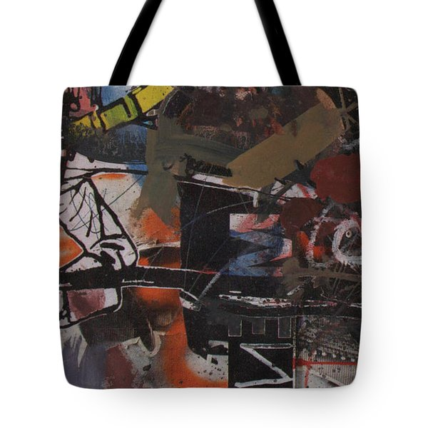 Tote Bag featuring the painting Altered One-off #1 by Robert Anderson