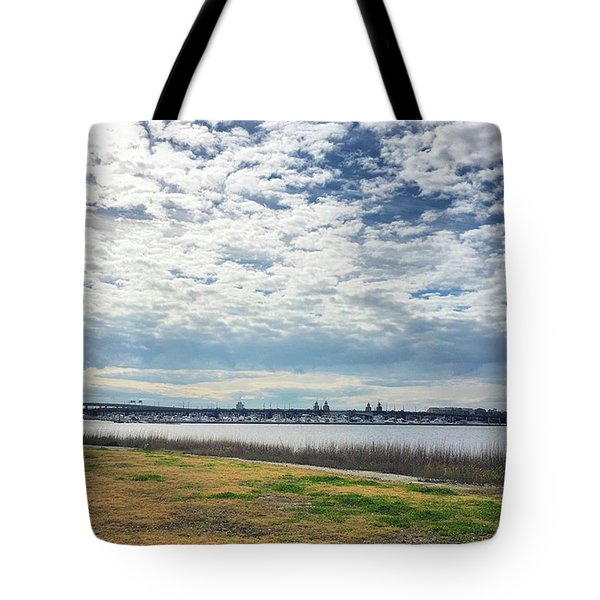 Although A Bit Chilly And Windy This Tote Bag