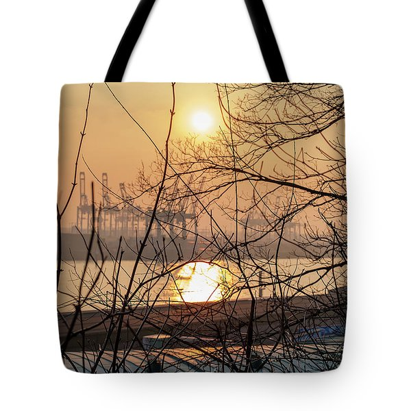 Altonaer Balkon Sunset Tote Bag