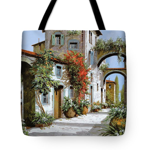 Tote Bag featuring the painting Altri Archi by Guido Borelli