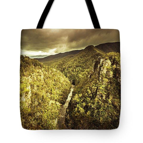 Alum Cliffs, Tasmania, Australia Tote Bag