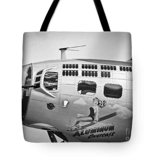 Tote Bag featuring the photograph Aluminum Overcast - B-17 by Ricky L Jones