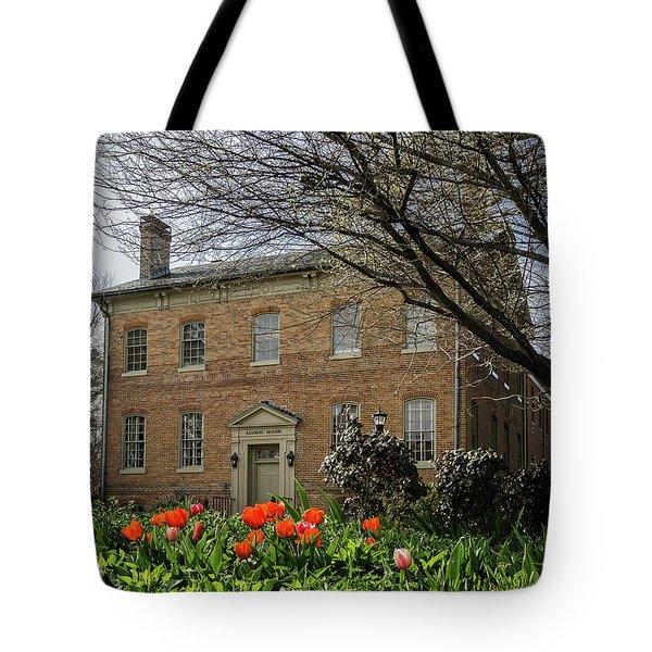 Alumni House In Spring Tote Bag