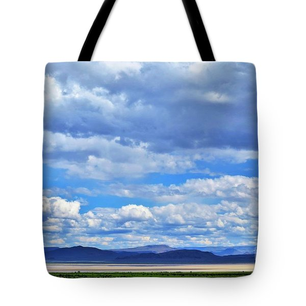 Sky Over Alvord Playa Tote Bag by Michele Penner