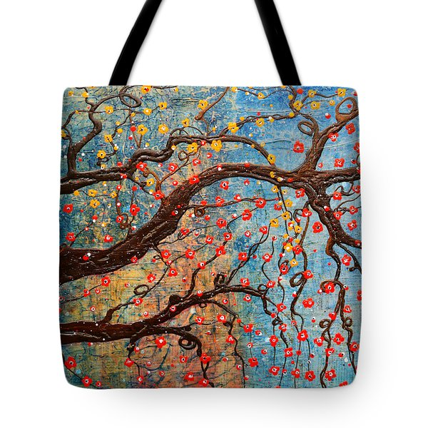 Tote Bag featuring the mixed media Always Dream by Natalie Briney