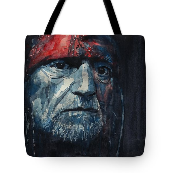 Tote Bag featuring the painting Always On My Mind - Willie Nelson  by Paul Lovering