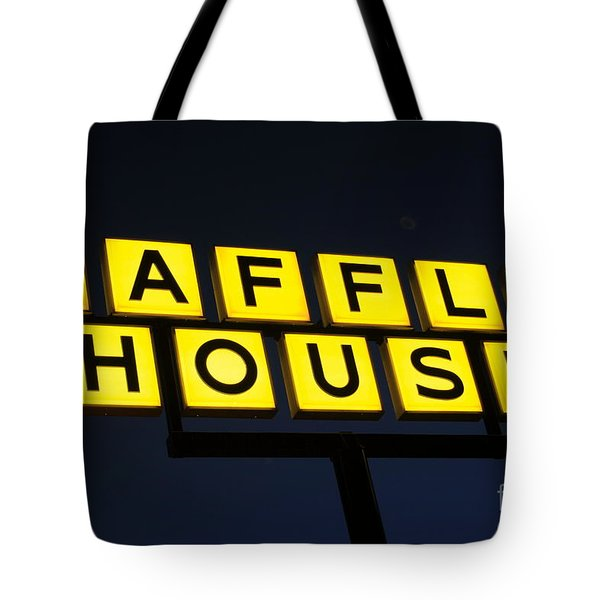 Always Open Waffle House Classic Signage Art  Tote Bag