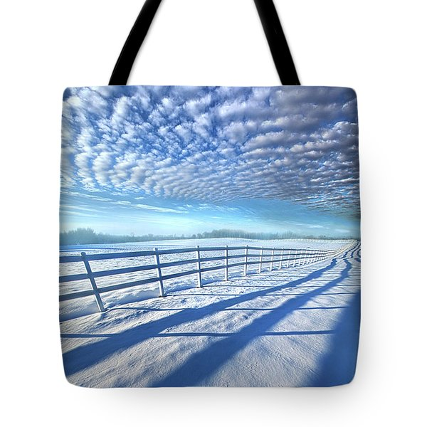 Tote Bag featuring the photograph Always Whiter On The Other Side Of The Fence by Phil Koch