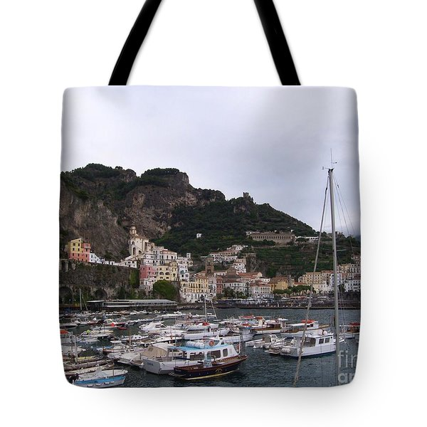 Tote Bag featuring the photograph Amalfi Coast by Judy Kirouac