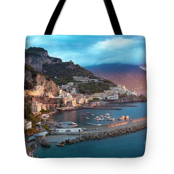 Amalfi Sunrise Tote Bag by Brian Jannsen