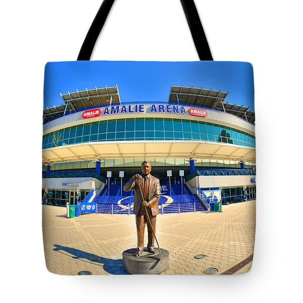 Tote Bag featuring the photograph Amalie Arena by Lisa Wooten