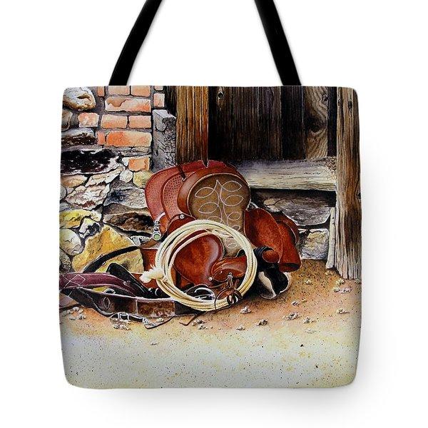 Amanda's Saddle Tote Bag by Jimmy Smith