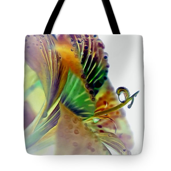 Amaryllis Butterfly Tote Bag