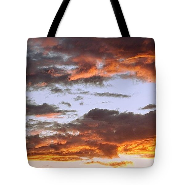 Glorious Clouds At Sunset Tote Bag
