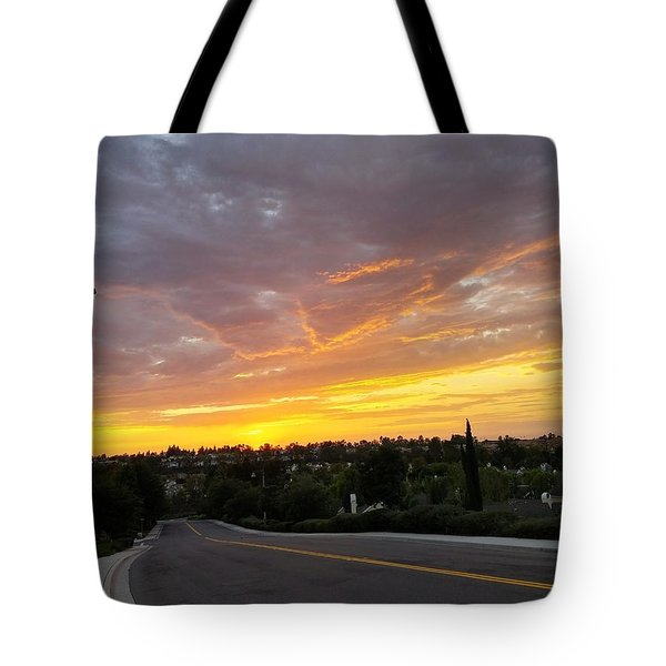 Colorful Sunset In Mission Viejo Tote Bag