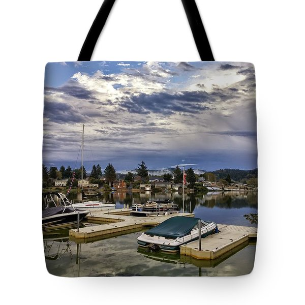 Devils Lake Oregon Tote Bag