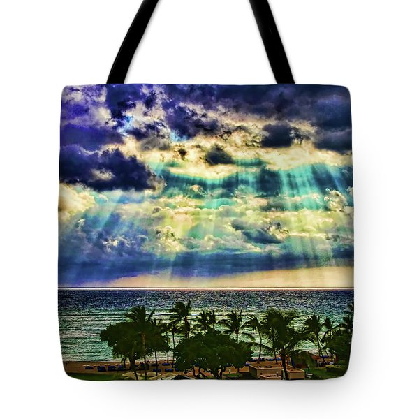 Amazing Grace - Sun Rays Before Sunset By Diana Sainz Tote Bag
