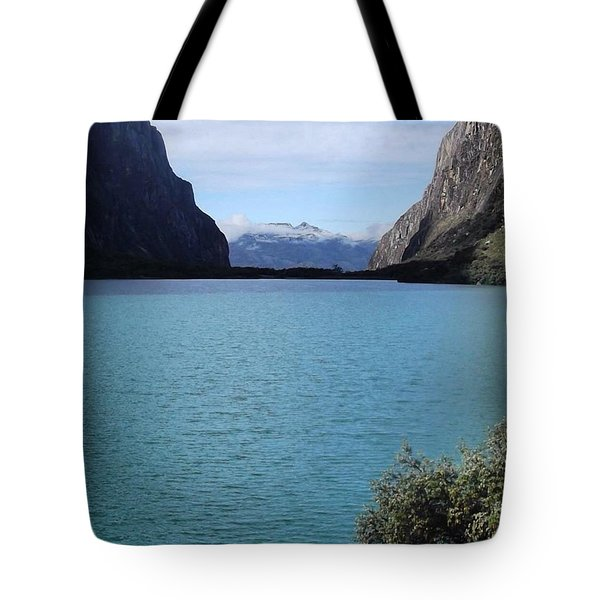 Amazing Lake Up In The Mountains Of The Tote Bag