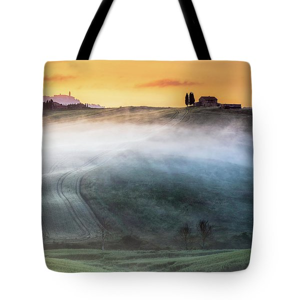 Amazing Landscape Of Tuscany Tote Bag by Evgeni Dinev
