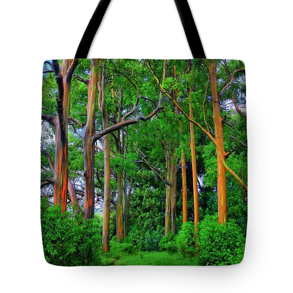Amazing Rainbow Eucalyptus Tote Bag