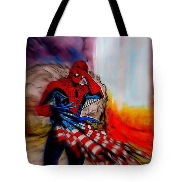 Amazing Spider-man 9/11 Tribute Tote Bag