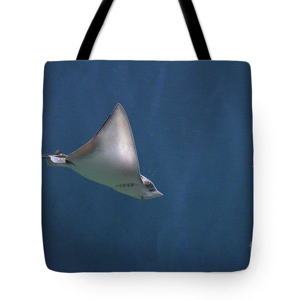 Amazing Stingray Underwater In The Deep Blue Sea  Tote Bag