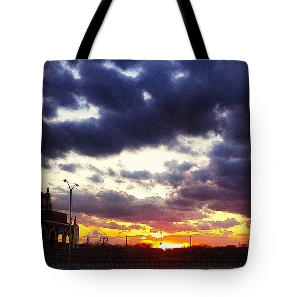 Amazing Sunset Tote Bag by Lauren Fitzpatrick