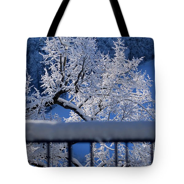 Tote Bag featuring the photograph Amazing - Winterwonderland In Switzerland by Susanne Van Hulst