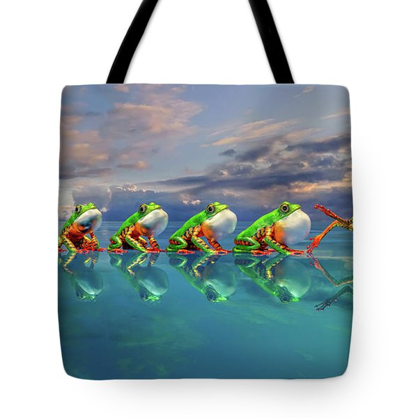 Amazon Tree Frog The Vocal Jumper Tote Bag