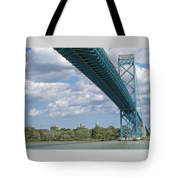 Ambassador Bridge - Windsor Approach Tote Bag