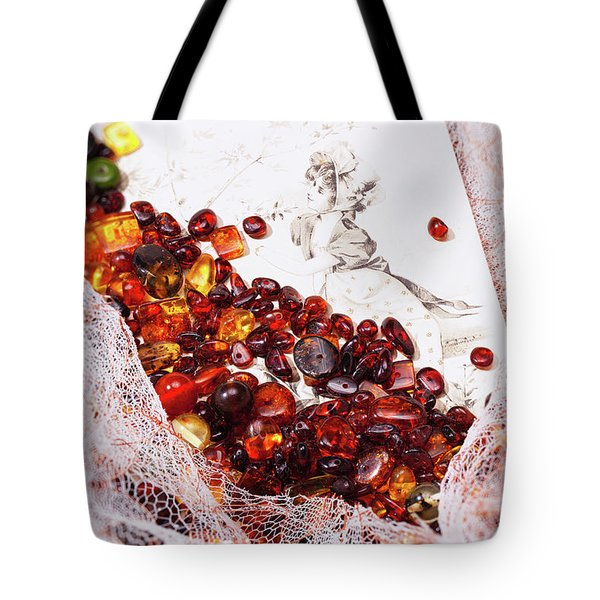 Tote Bag featuring the photograph Amber #8925 by Andrey  Godyaykin