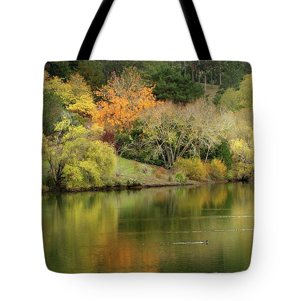Tote Bag featuring the photograph Amber Days Of Autumn by Marion Cullen
