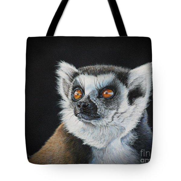 Amber Eyes......lemur Tote Bag