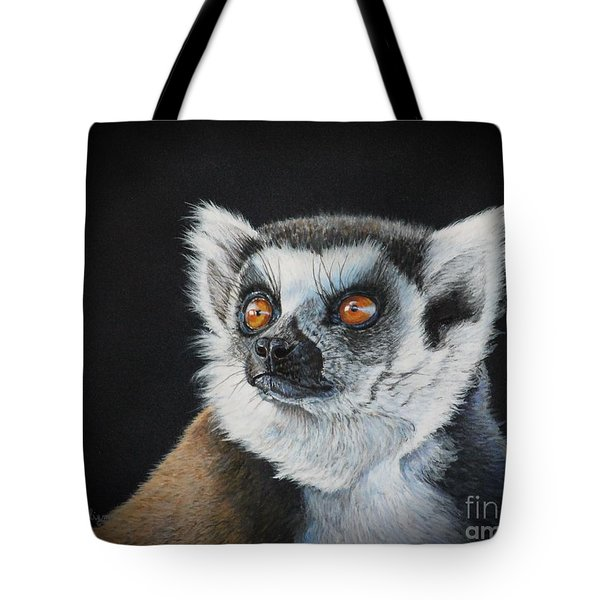 Amber Eyes......lemur Tote Bag